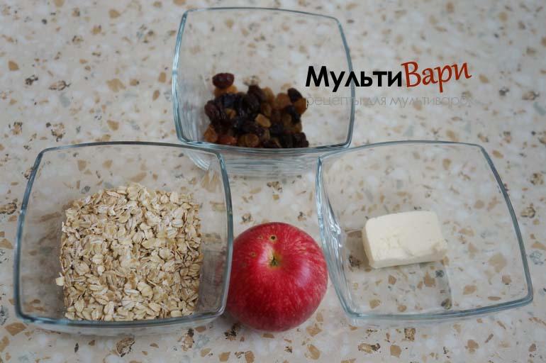 Овсяная каша с ягодами и изюмом в мультиварке - рецепт пошаговый с фото