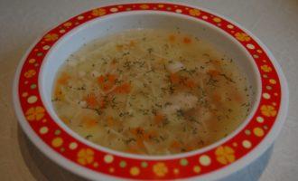 Детский куриный суп в мультиварке фото
