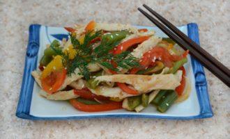 Куриное рагу по-китайски в мультиварке фото