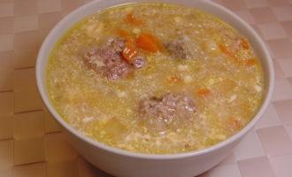 Луковый суп с плавленными сырками фото