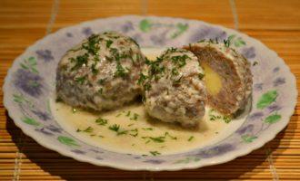 Тефтели с гречкой и сыром фото