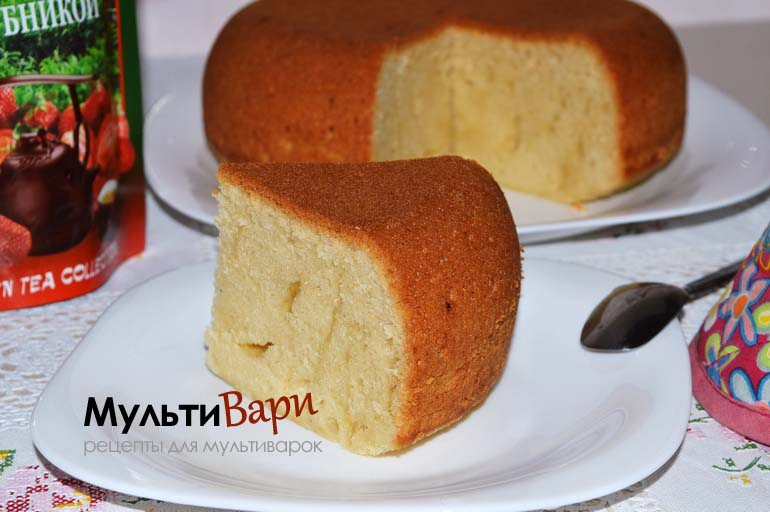 Бисквит на лимонаде в мультиварке фото