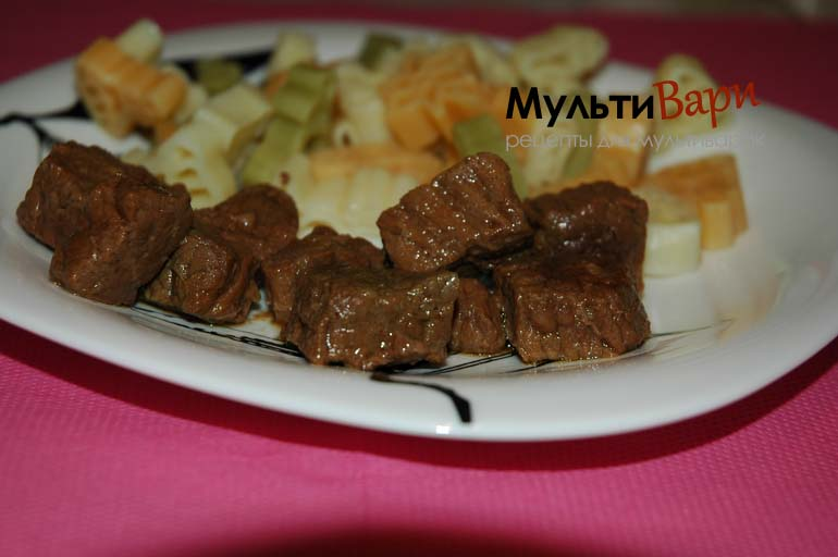 Говядина с чесноком в соусе Терияки фото