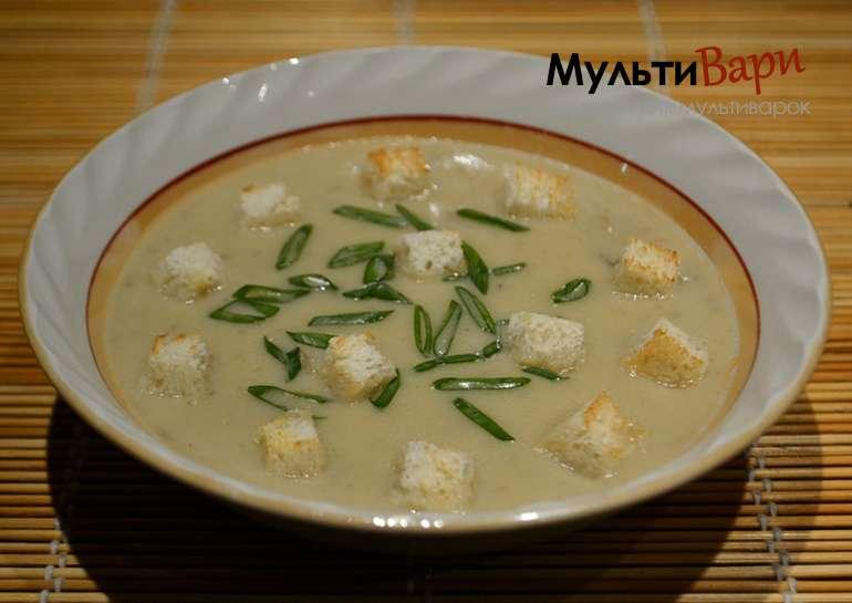 Грибной суп-пюре в мультиварке фото