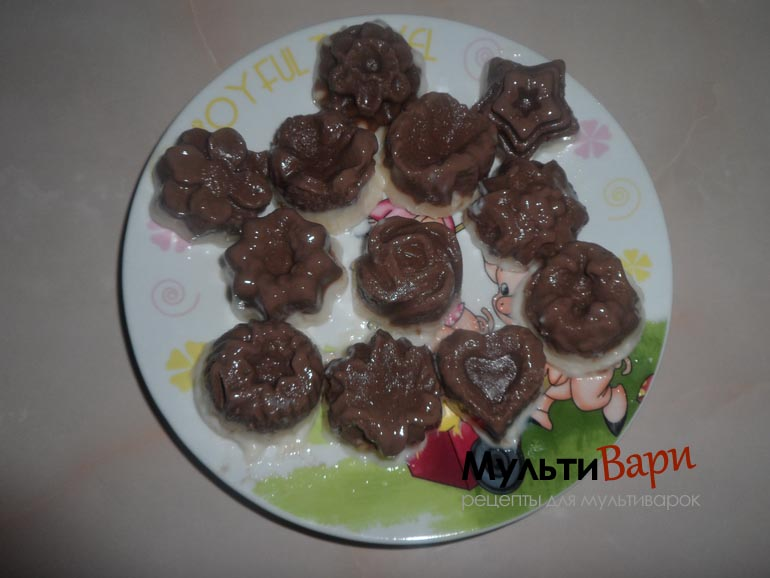 Желе из топленого молока и шоколада в мультиварке фото