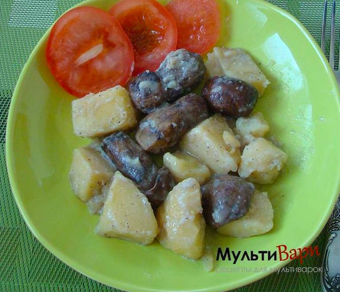 Картофель с лесными грибами фото