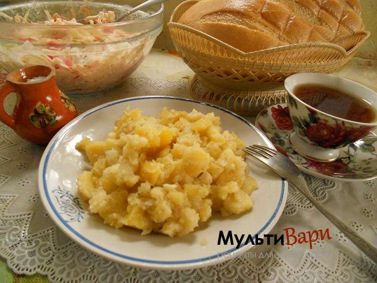 Картошка с майонезом фото