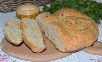 Хлеб без дрожжей на кефире фото