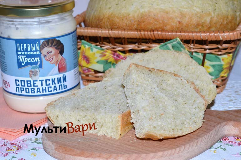 Хлеб на майонезе в мультиварке фото