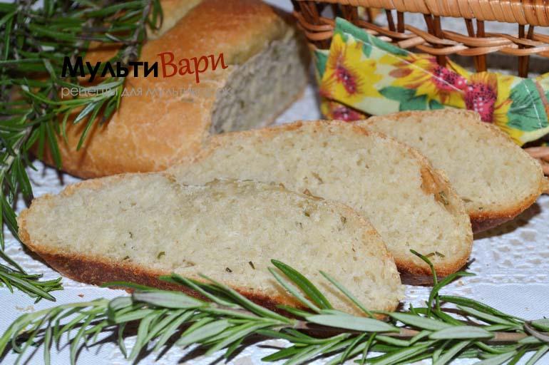 Хлеб с розмарином в мультиварке фото