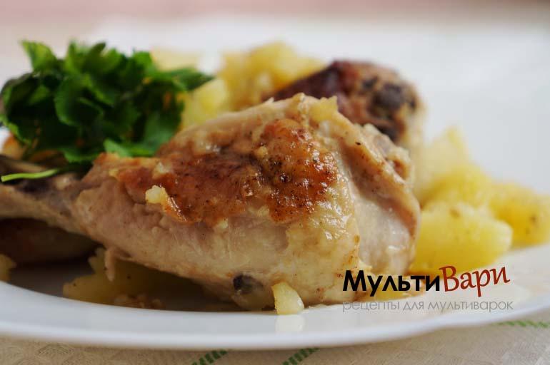 Курица с картошкой в мультиварке фото