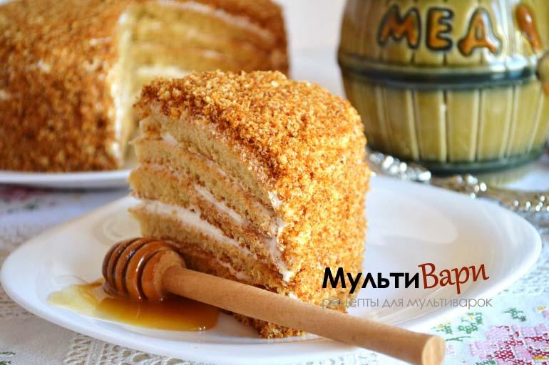 Торт Медовик рецепт в мультиварке фото