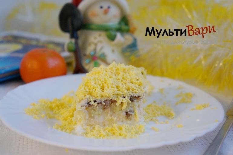 """Салат """"Мимоза"""" рецепт на праздничный стол фото"""