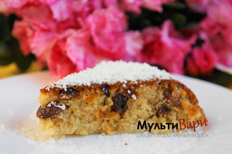 Овсяный пирог с изюмом фото
