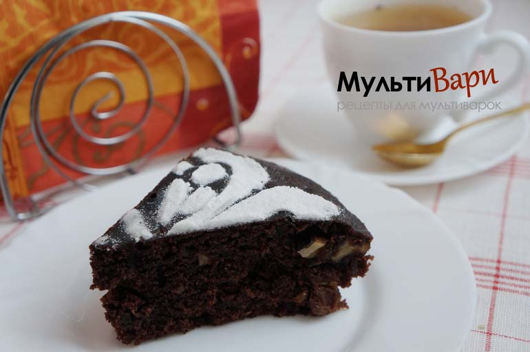 Постный шоколадный манник в мультиварке фото
