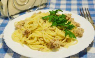 Спагетти с фаршем фото