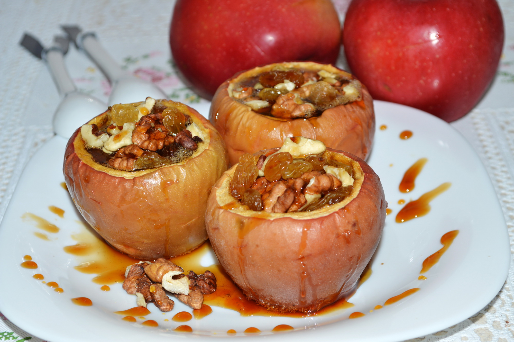 Яблоки запеченные с медом фото