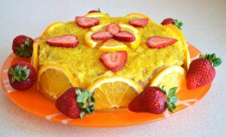 Апельсиновый бисквит фото