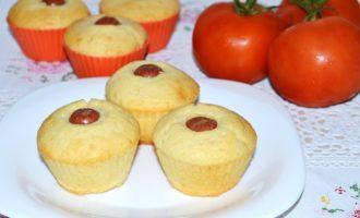 Кексы с сосисками фото