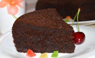 Шоколадный заварной бисквит фото