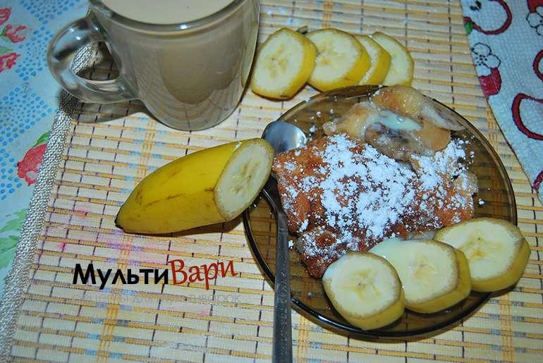 Заливной банановый пирог фото