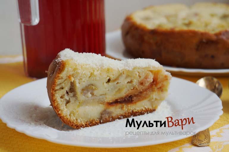Пирог с грушами простой рецепт в мультиварке фото