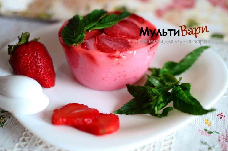 Желе из йогурта в Мультиварке фото