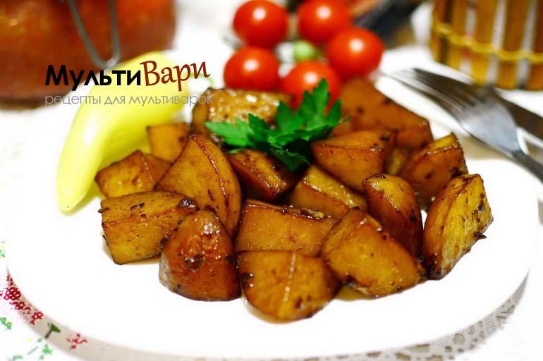Картофель запеченный в мультиварке в соевом соусе фото