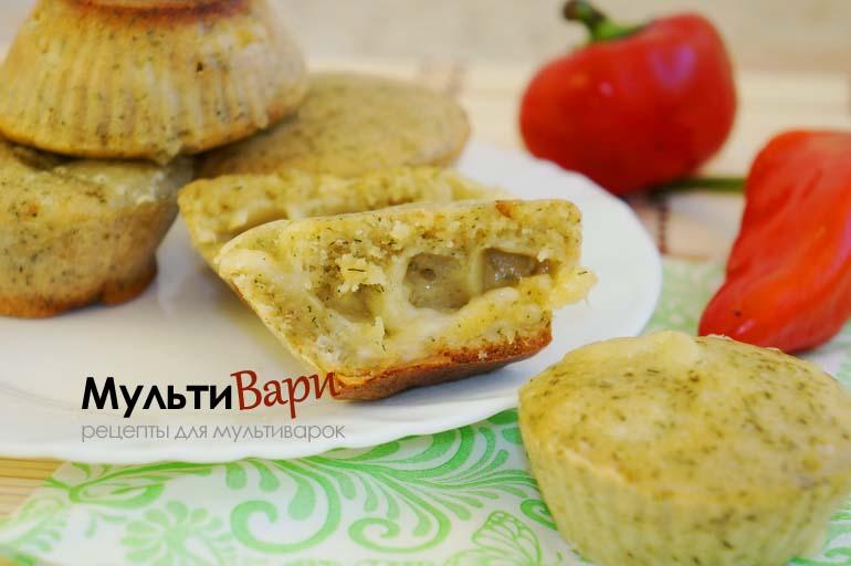 Кекс и укроп - зеленые кексы с сыром фото