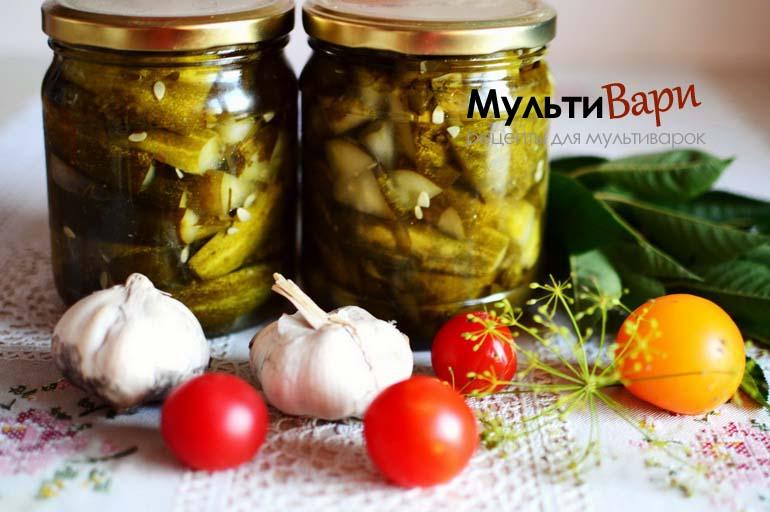 Салат из огурцов - заготовка на зиму фото