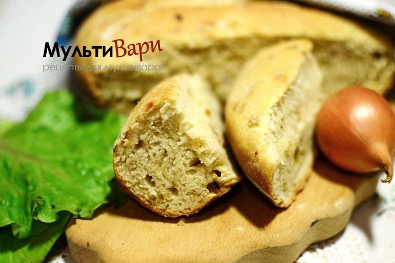 Луковый хлеб в мультиварке фото