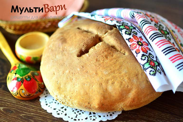 Ржаной хлеб в мультиварке фото