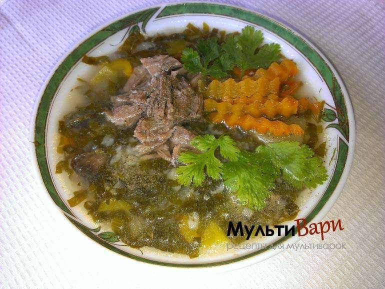 Щавелевый суп с рисом в мультиварке фото