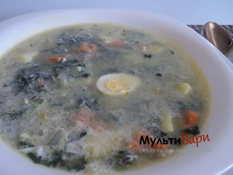 Суп из крапивы в мультиварке фото