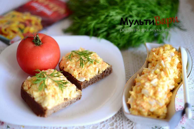 Закуска из плавленных сырков с яйцом фото